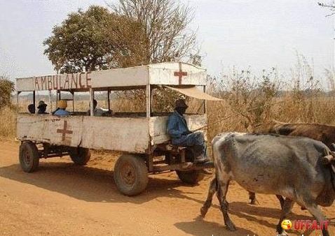 Foto divertente: Ambulanza africana