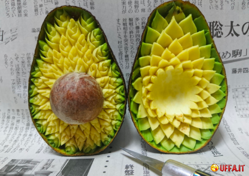 Foto divertente: Avocado art