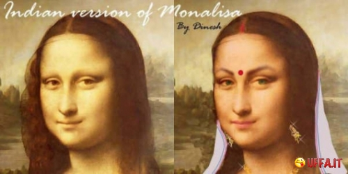 Foto divertente: Monna Lisa in India